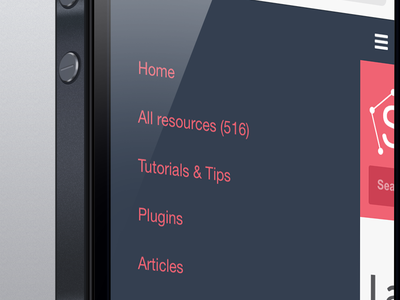 New menu for mobile - Sketch App Sources