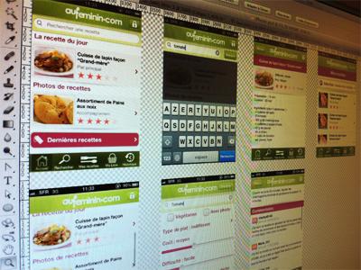 UI iPhone App - Aufeminin.com Cuisine