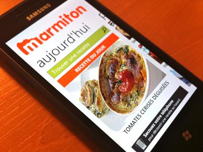 Marmiton - Windows Phone 7 marmiton recipes windows phone 7 ui
