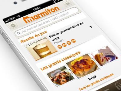 Marmiton recipes fireworks aufeminin marmiton iphone retina display food