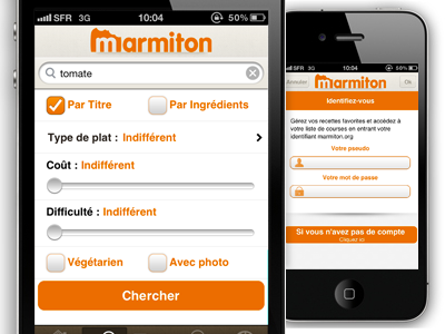 Marmiton - Form recipes fireworks aufeminin marmiton iphone retina display food