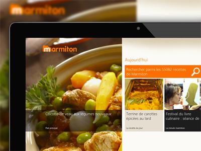 Marmiton app - W8 recipes fireworks aufeminin marmiton windows w8 food windows8