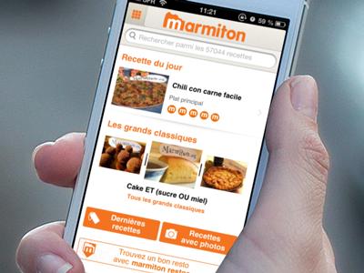 Marmiton V3 for iPhone retina iphone ios marmiton recipes cook menu