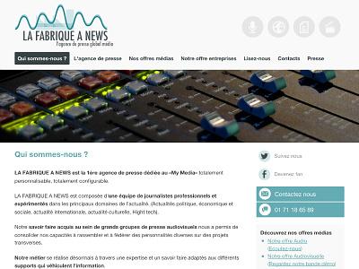 LA FABRIQUE A NEWS -v2 radio journaliste internet audiovisuel audio presse video