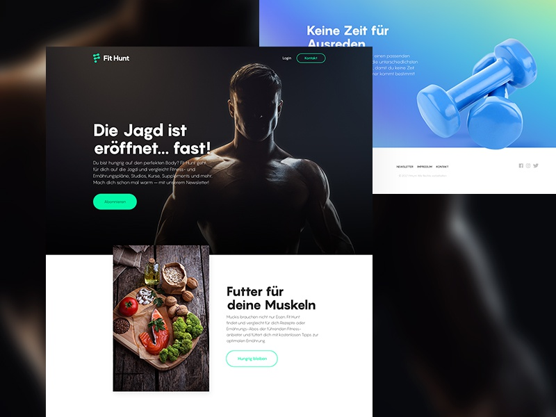 Daily UI #003 - Landing Page website landing fit sports