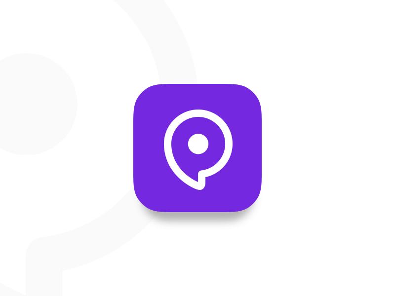 Daily UI #005 - App Icon pin purple location dailyui icon app