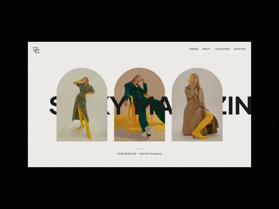 SICKY Magazine layout branding web typography uidesign after effects editorial exploration concept ui figma