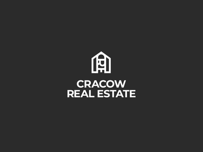 Cracow Real Estate Logo krakow cracow bold blackandwhite white black illustrator vector logo realestate logo realestate
