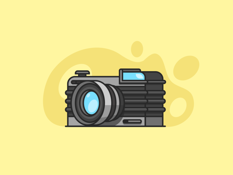 Camera Illustration figma design figmadesign figma branding design ui shadow grey blue vector color colour cartoon yellow illustrations illustrator camera