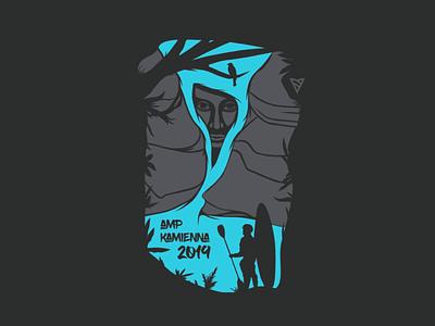 Waterfall Illustration tshirt vector kayaking kayaker kayak waterfall blue colour illustration illustrator