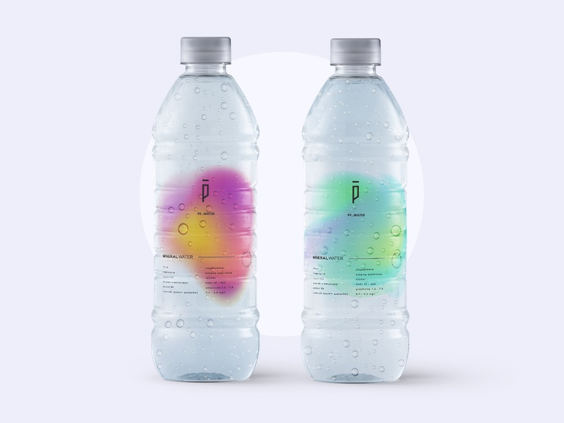 Artesian mineral water label product design