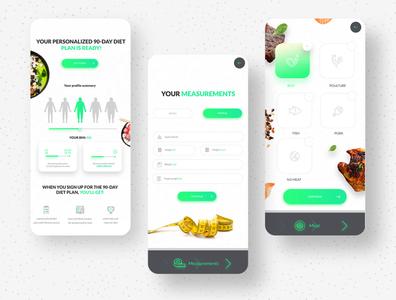 Diet app screens digital diet app minimal graphic design inspiration icon web diet app design creative ux ui