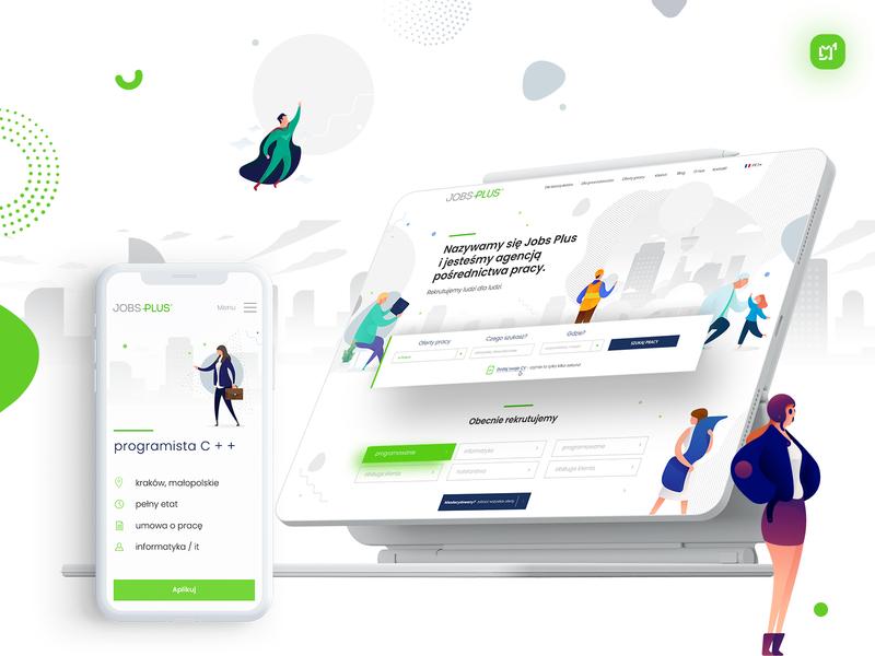 Jobs Plus Web Design website graphic vector webdesign app design inspiration color illustration creative design ux ui