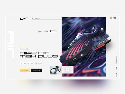 Nike Landing Page concept nike air minimal app branding design inspiration design creative webdesign ux ui landing web nike running nike