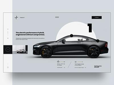 Polstar 1 Web Design Concept Ui / Ux design creative design inspiration typography web app mobile website branding car minimal webdesign ux ui