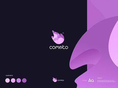 Cometo Logo Design branding color typography icon design creative design inspiration vector ui logo