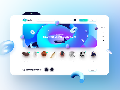 Sport Web Platform App logo icon design graphic creative website design branding app sport web design website ui ux