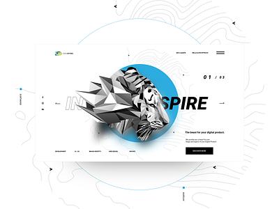Devspire Web Design Concept design inspiration graphic website development app animal vector branding design landing webdesign web ui ux
