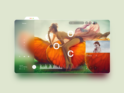 Online Music Streaming Platform Web Design logo icon creative design app singer stream music app music webdesign website web ui ux