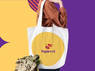Squirrel Logo design Concept creative design inspiration graphic illustration vector brand branding design animal geometric icon mark logo design logo