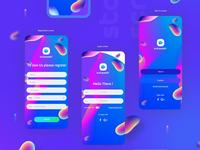 Autowash iOS app design / UI UX elements
