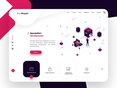 Codeapps Landing Page design