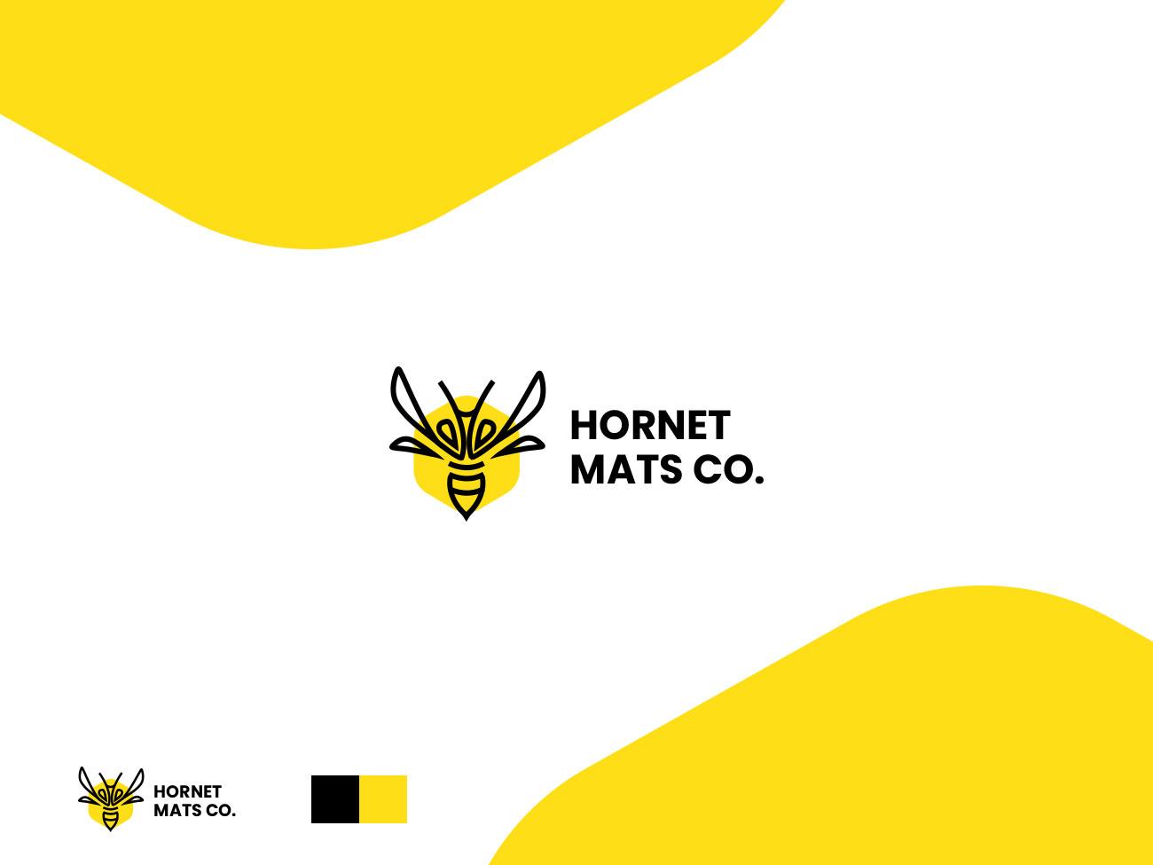 Hornet Mats logo type app designer typography web creativeadobe ui graphic design brand ux design inspiration logo brand icon branding vector illustration color graphic creative design