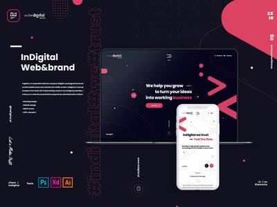 Indigital Cover for Indigital Web design project