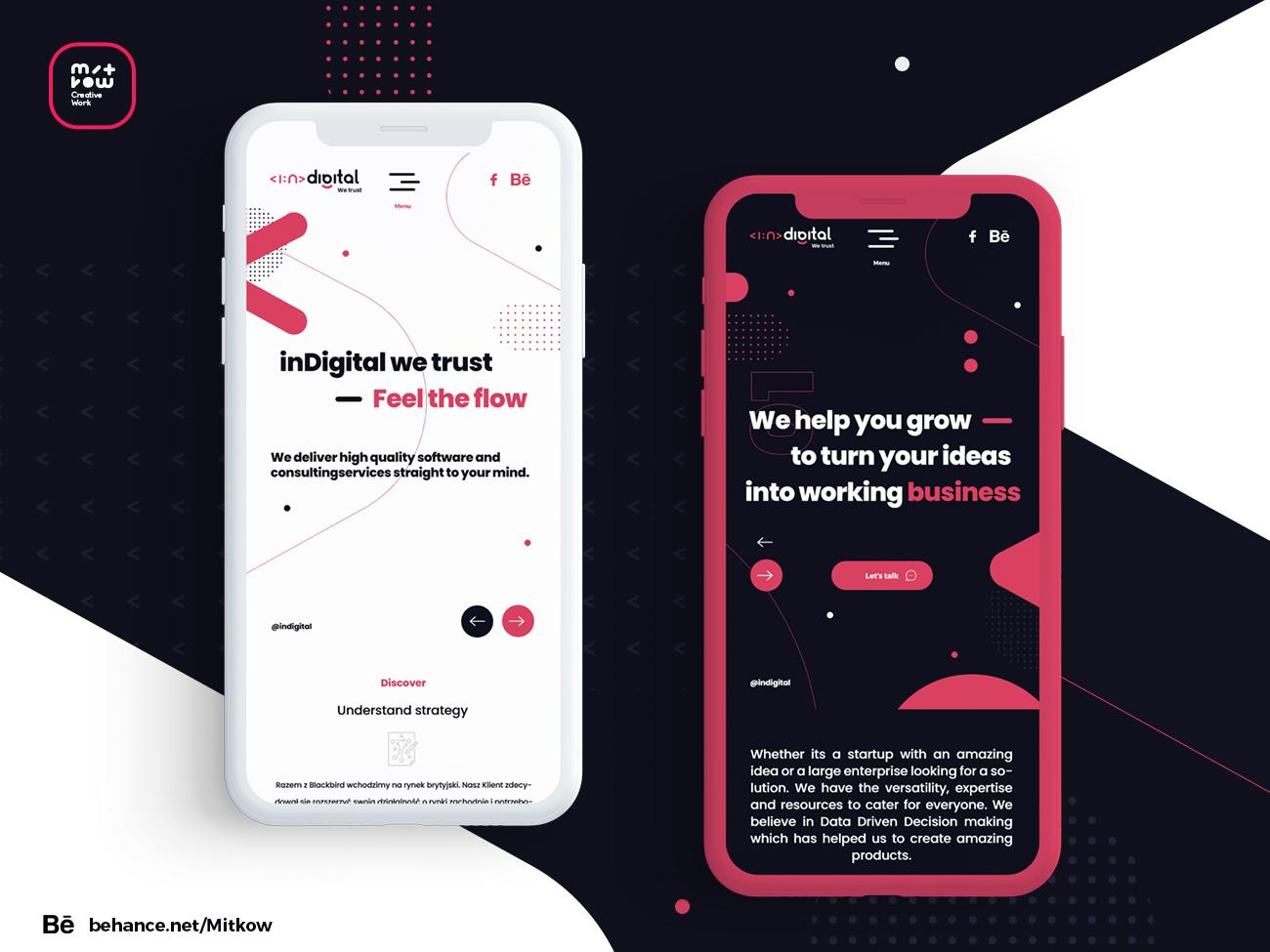 Mobil version InDigital designer typography creativeadobe design inspiration brand vector design illustration graphic design brand color graphic creative animation flat web app icon ux logo ui