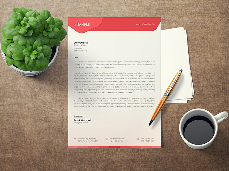 Letterhead Template creative market template proposal professional official office ms word letterhead letter corporate company letterhead a4