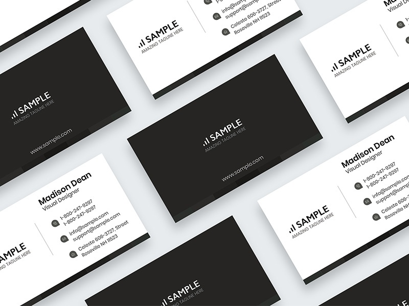 Minimal Business Card Creative Market Corporate Mockup Personal Ideny Office Visiting