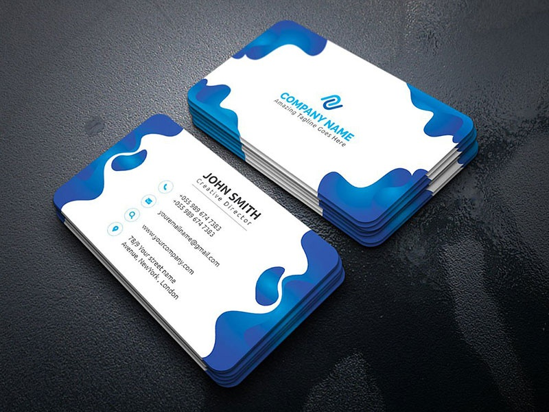 Business card by uiexpert dribbble this is business card this template download contains 300 dpi print ready cmyk ai eps files its 100 customizable all objects are resizable colourmoves
