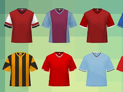 Kits Icons - Football Giant icons soccer football kits jerseys