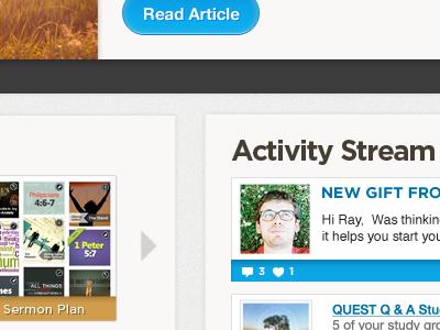 Dashboard activity stream ui sections dashboard
