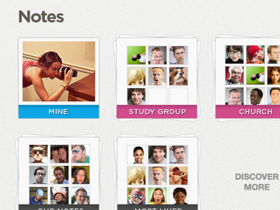 Notes Grouping Updated notes selection menu friendships groups