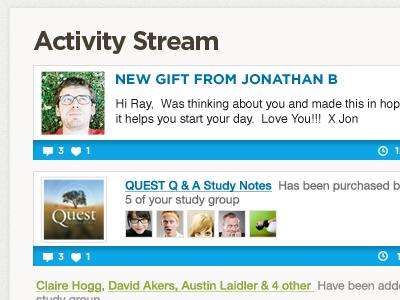 Activity Stream activity stream ui
