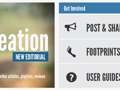 Get Involved buttons font-awesome home page