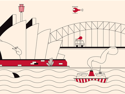 Sydney lines city illustration design vector