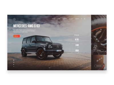 Mercedes-AMG G 63 website design
