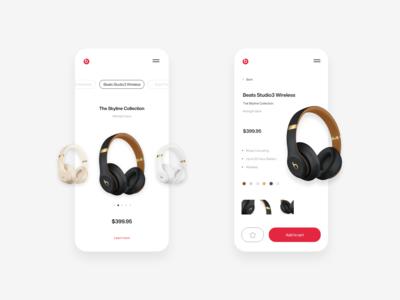 Beats by Dre app concept