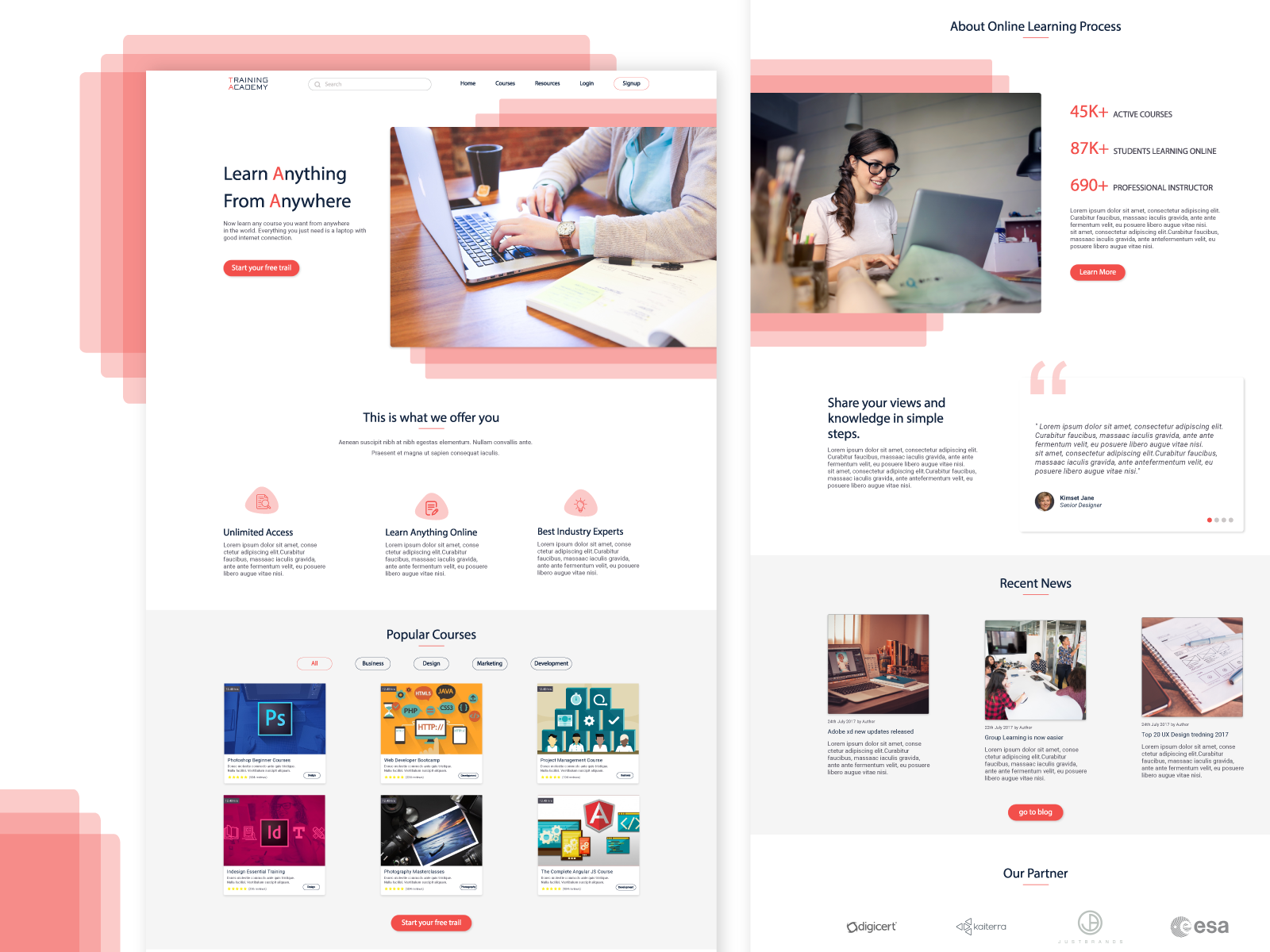 Online Course Landing Page by Mohammed Fardeen on Dribbble
