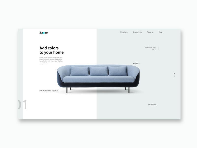 Fantastic Landing Page For Online Designer Furniture Store Concept By Lamtechconsult Wood Chair Design Ideas Lamtechconsultcom