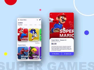 Mobile Game Store - Concept App