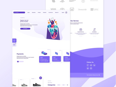 E Commerce Landing Page