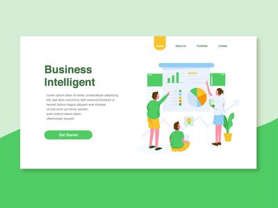 Business Inelligent Illustration
