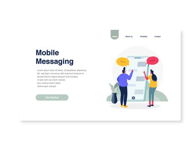 Mobile Messaging Illustration