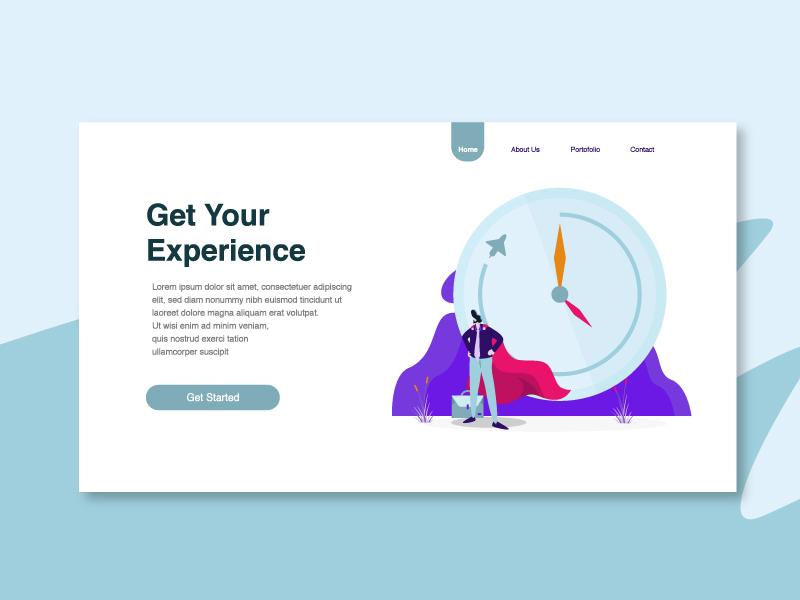 Experience Illustration resume experience landing page dribbble web vector flat illustration flat illustration design ui