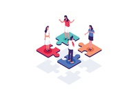 Collaborative Environment Illustration