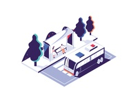 Shuttle Service Illustration