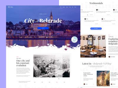 Belgrade Living website serbia srbija new landing ui design web city travel beograd belgrade